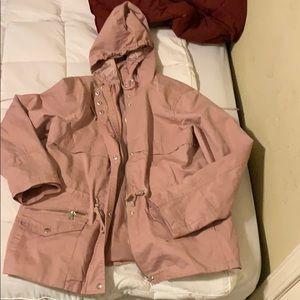 Pink anorak jacket size Large